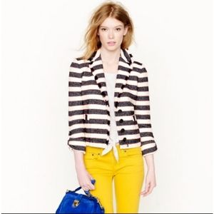J. Crew Collection Legion Stripe Tweed Jacket 14